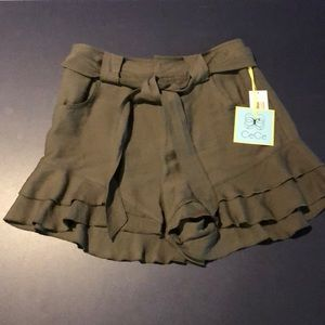 Cece army green dress shorts. Size 2